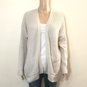 Hollister Cream Pocket Cardigan
